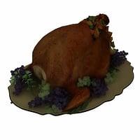 3D model turkey christmas