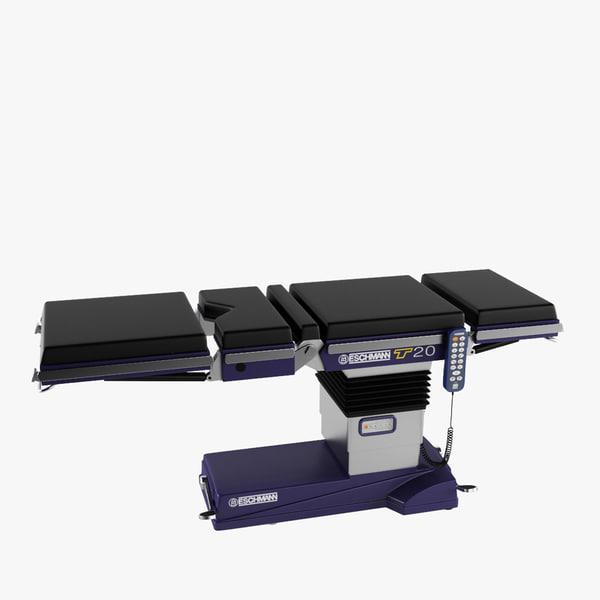 operating table eschmann t20 3D