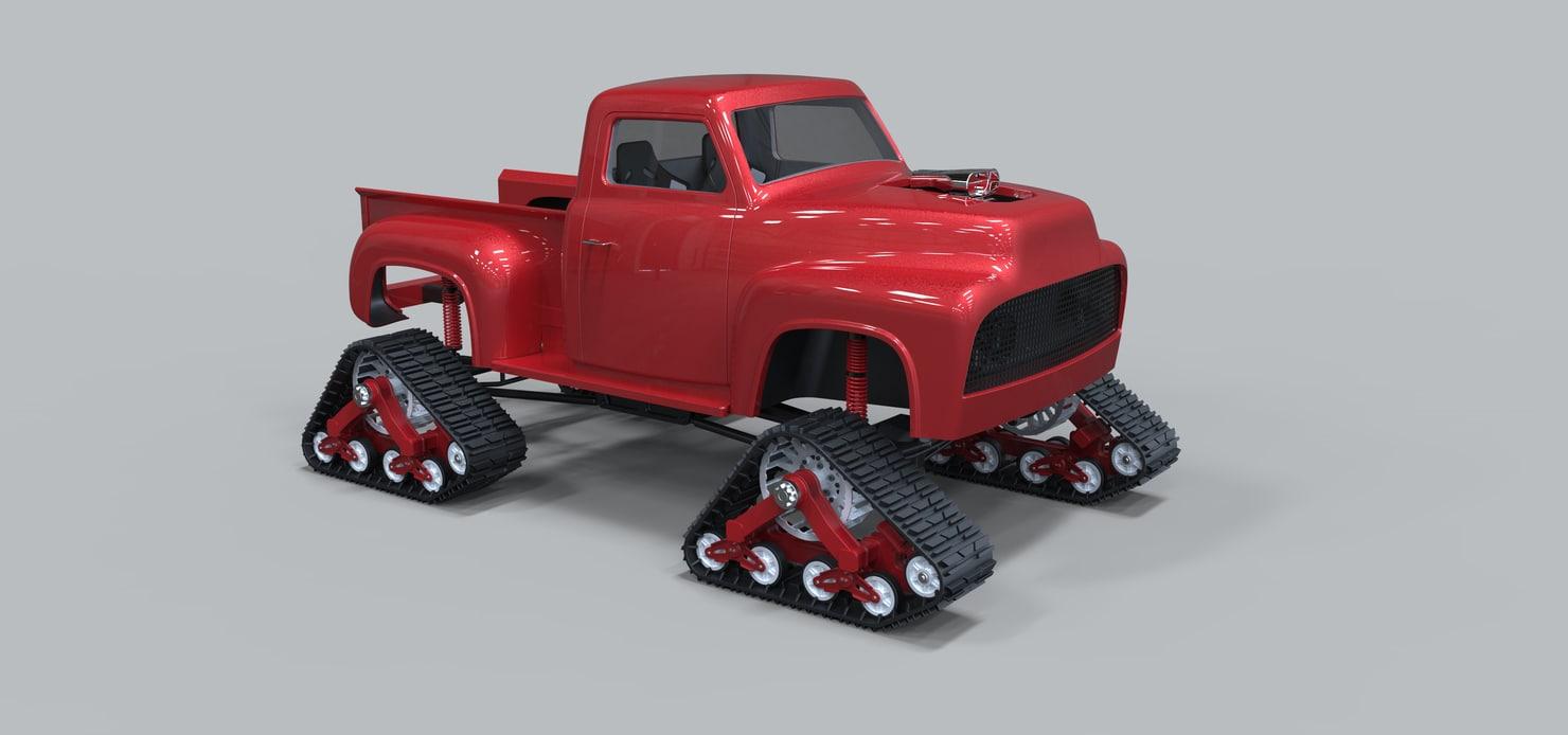 track mattracks pickup 3D model