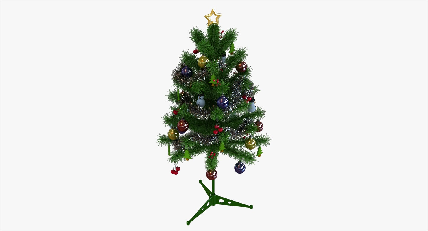 artificial christmas tree 3D