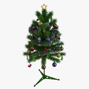 artificial christmas tree 3D
