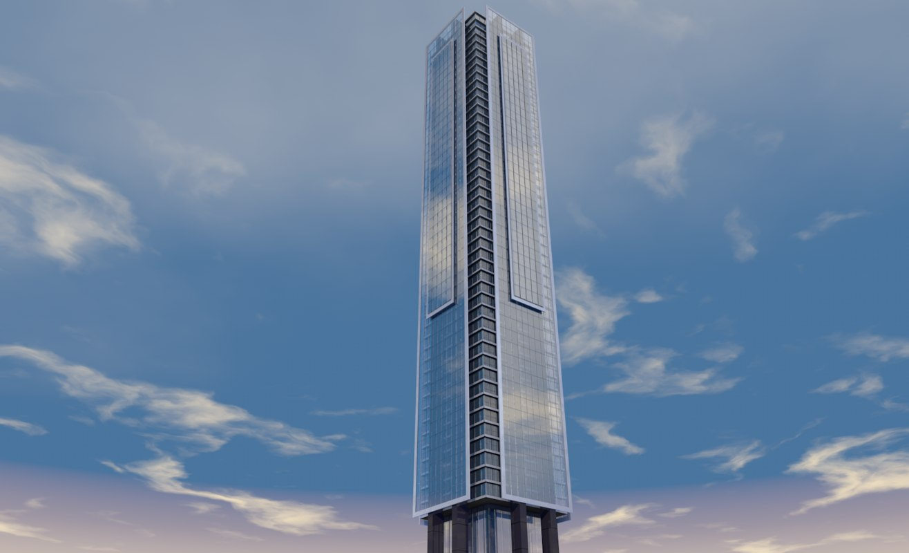 skyscraper cdmx 3D model