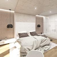 scandinavian bedroom interior 3D model