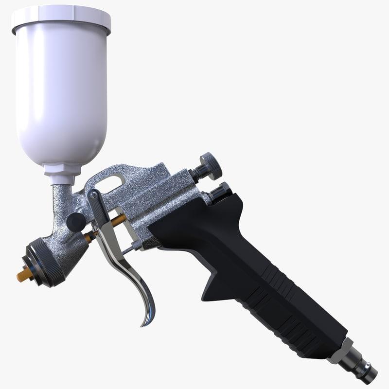 3D pressure spray gun