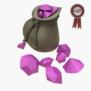 crystals gem jewel model