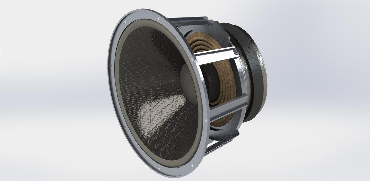 3D model woofer 320mm