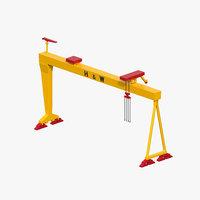 3D model harland wolff gantry crane