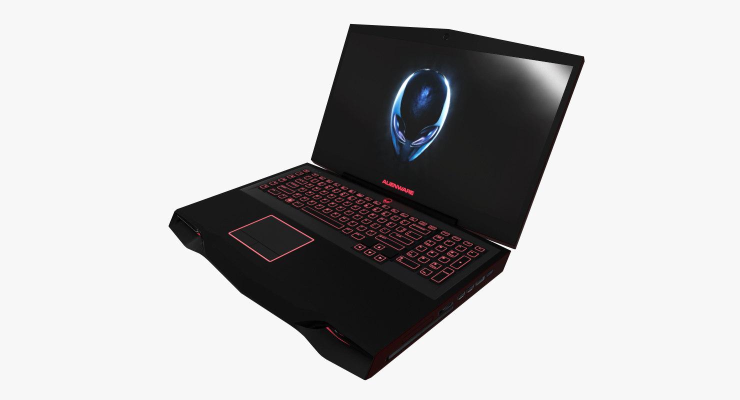 laptop alienware m18x 3D model