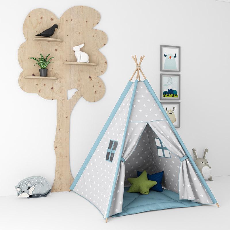 decor room children 3D