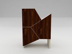 3D storage shelf model