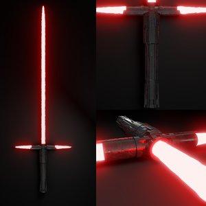 light saber kylo 3D model
