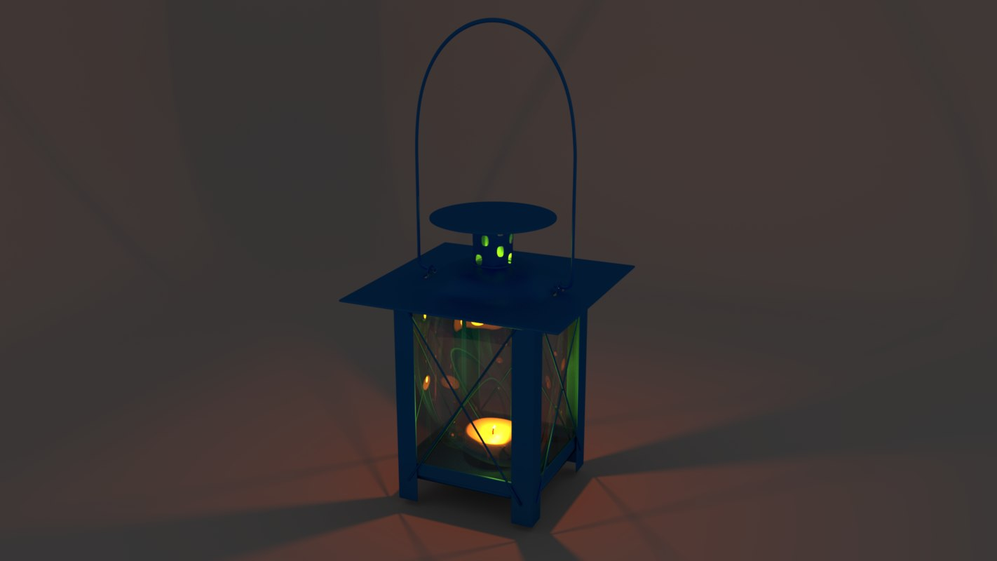 3D model candlestick lamp