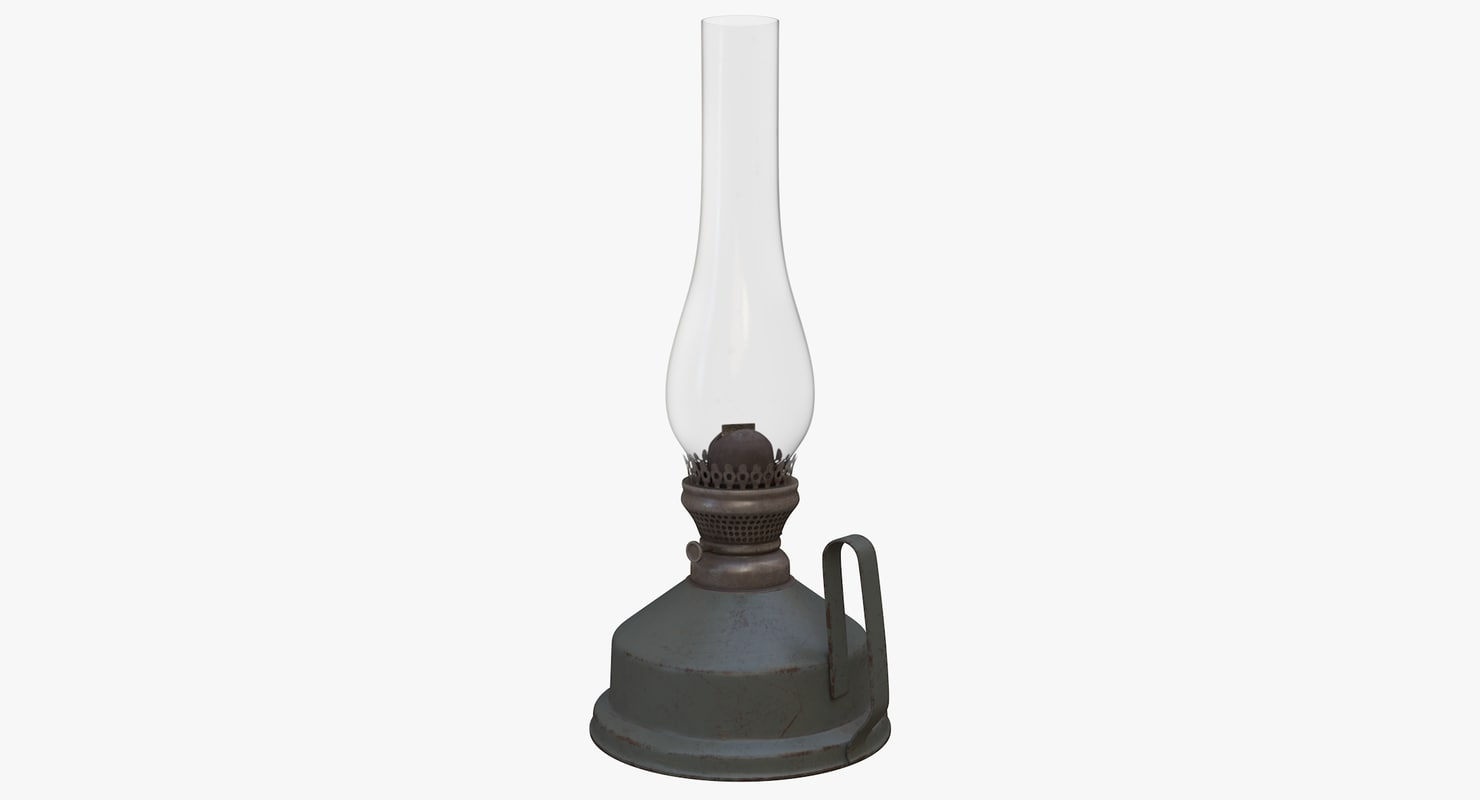 old kerosene lamp 3D model