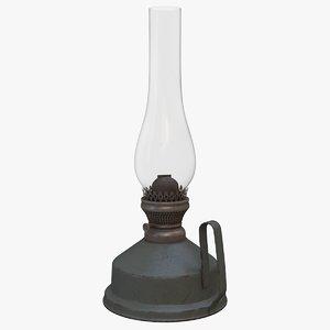 old kerosene lamp 3D model