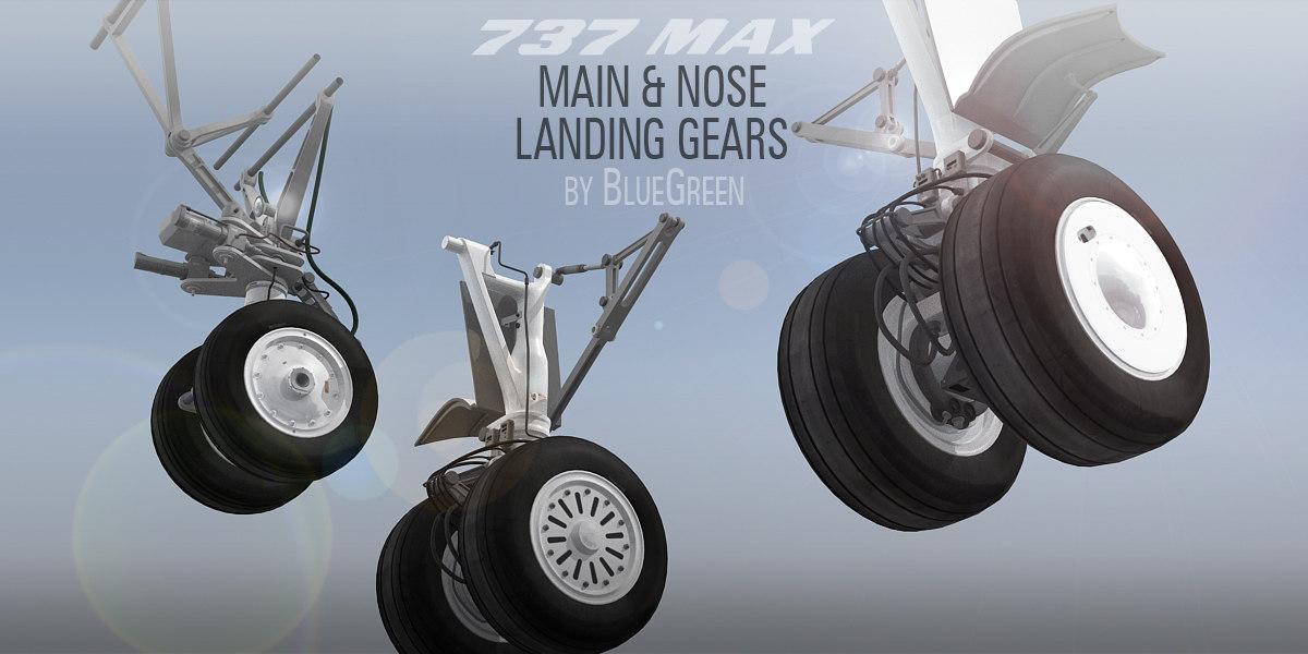 landing gear boeing 737 3d model turbosquid