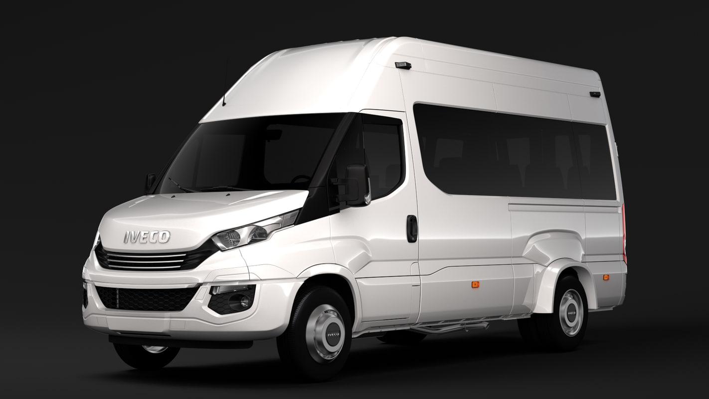 iveco daily minibus l3h3 3D model