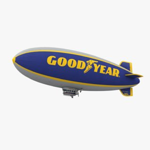 low-poly goodyear blimp 3D model