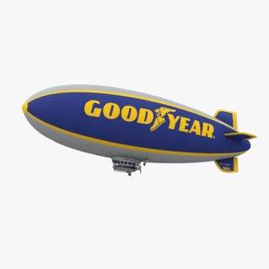 low-poly goodyear blimp 3D model