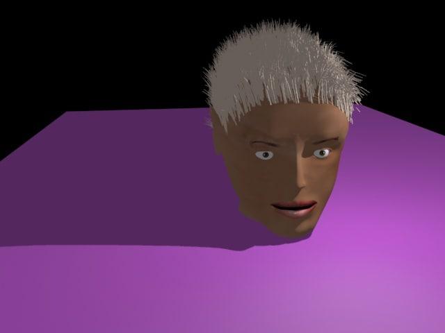 3D head female