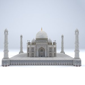 production taj mahal 3D model