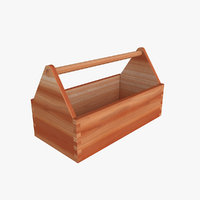 wooden toolbox 3D model
