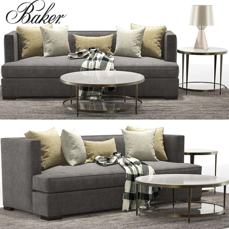 barbara sofa social scene 3D model