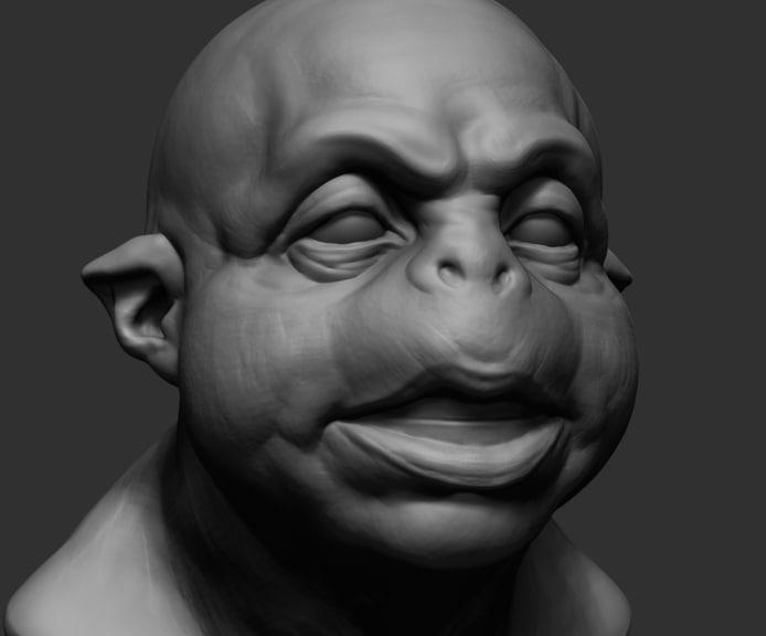 creature head ztl 3D