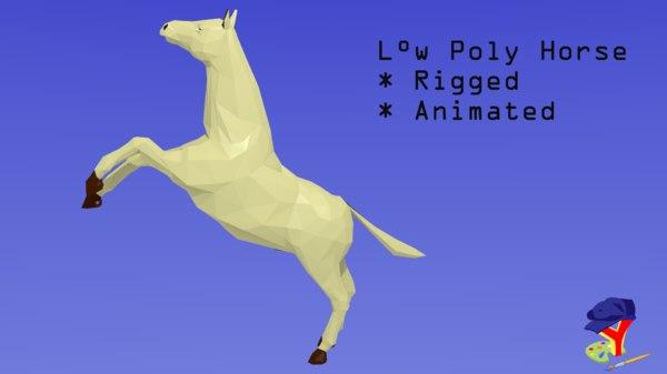 3D horse blender