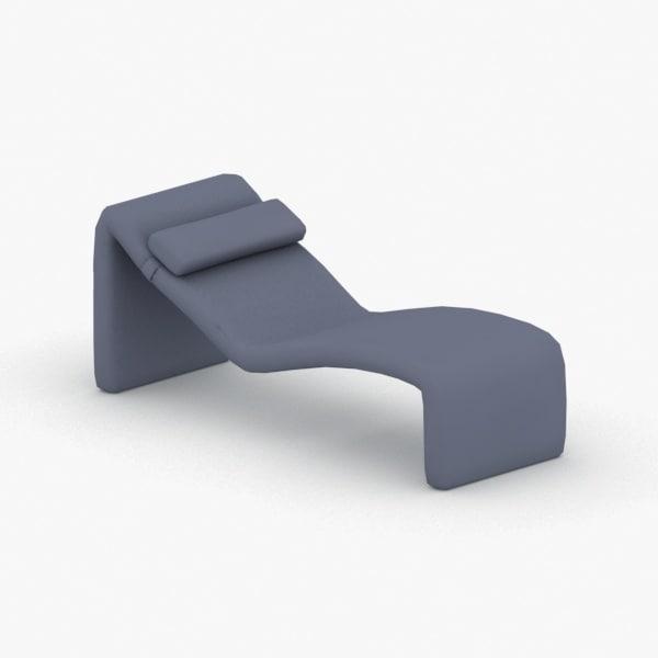 3D model interior - ottoman