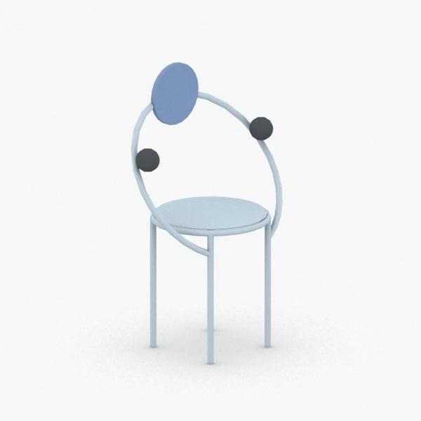 interior - modern chair stool 3D