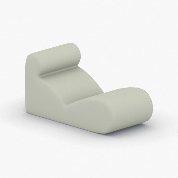 3D model interior - chair office