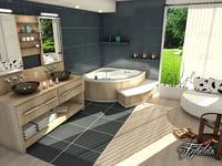 bathroom scene 3D model