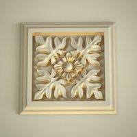 3D model rosette square