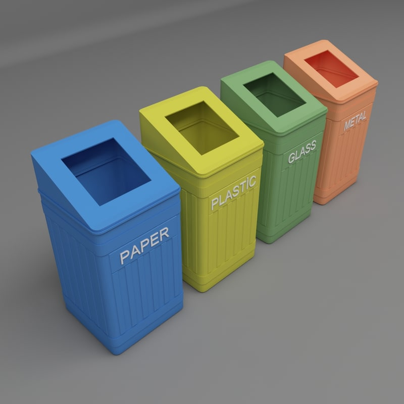 3D city garbage container model