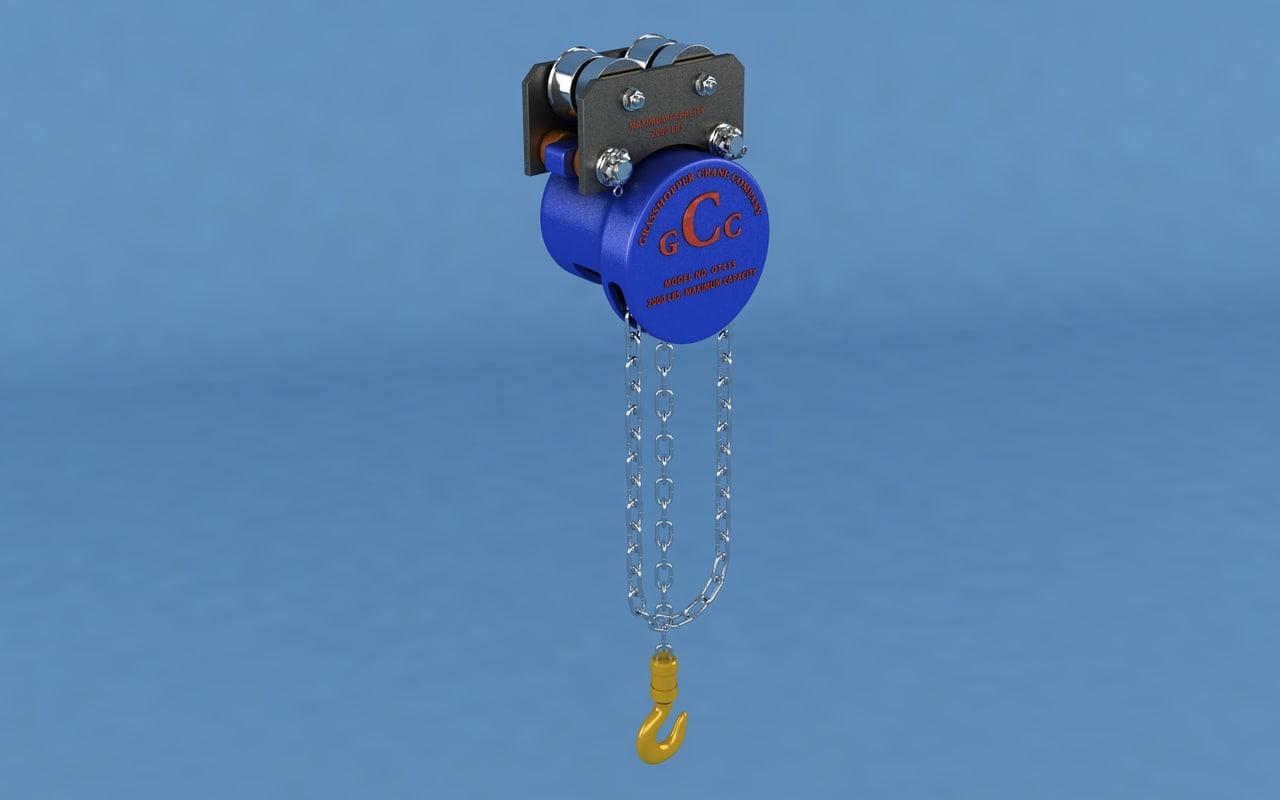 chain hoist 3D model