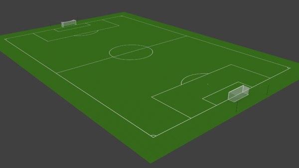 3D soccer pitch