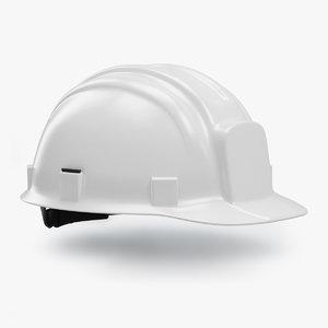 white hard hat - 3D model
