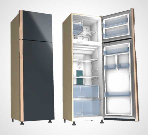 modern refrigerator 3D model