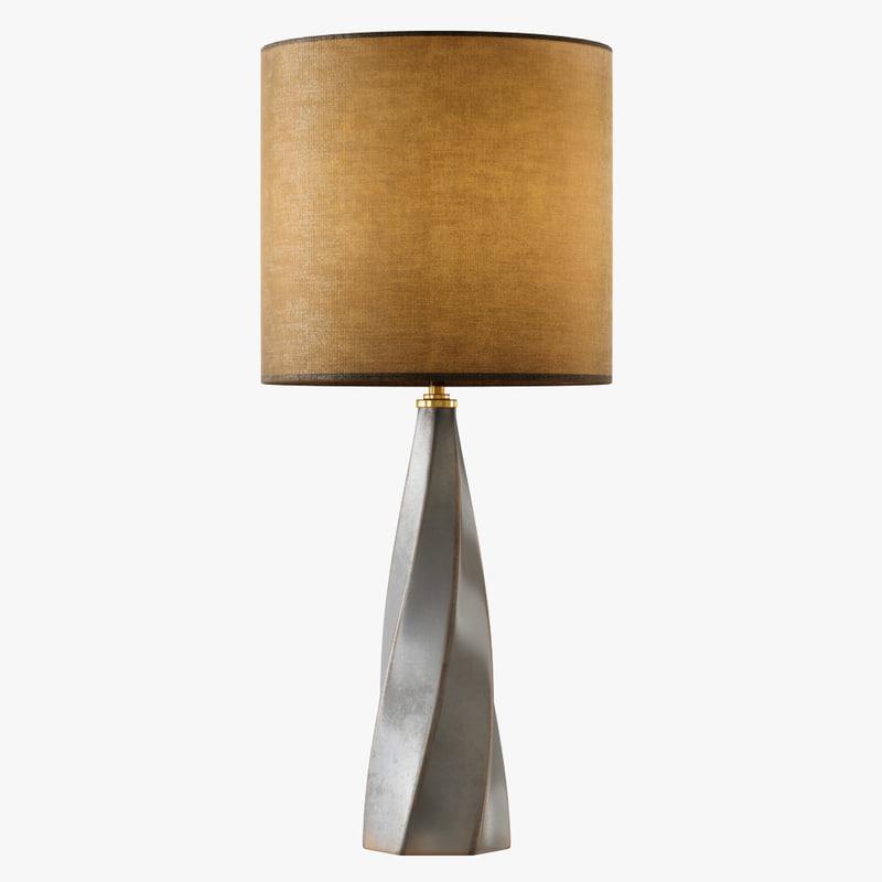table lamp saha 3D model