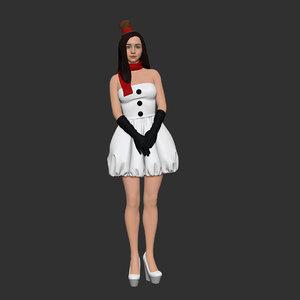 3D snowman cute