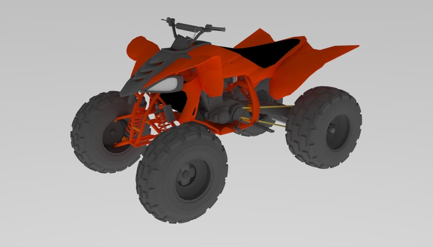 3D model yamaha 450 quad