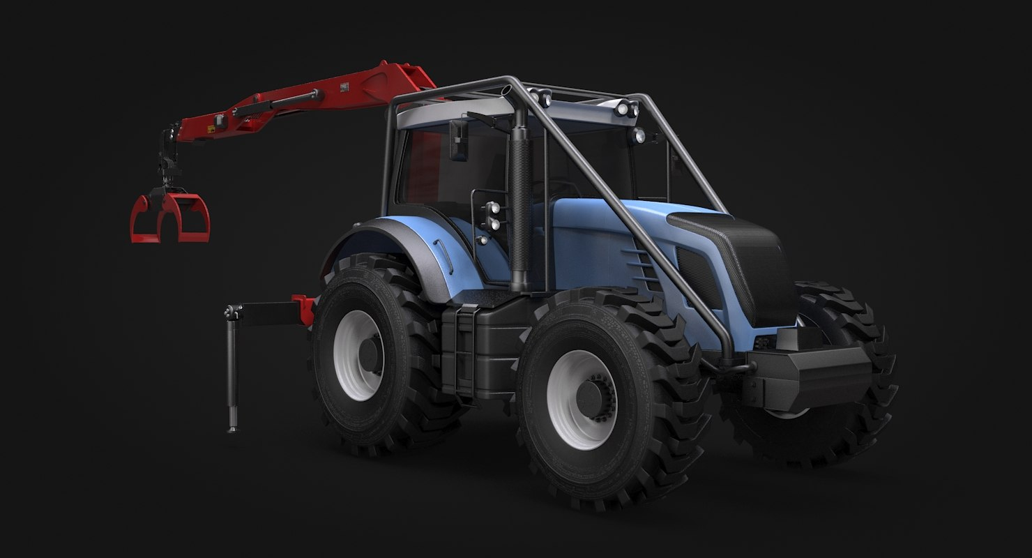forestry tractor 3D model
