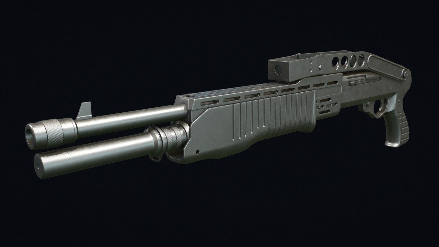 spas 12 shotgun sub-d 3D