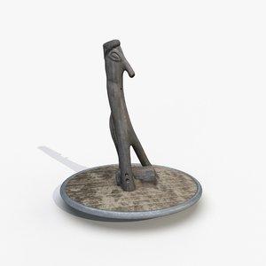 scanned 1 carved wood model