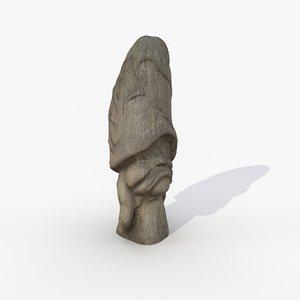 3D model scanned 1 magic mushroom