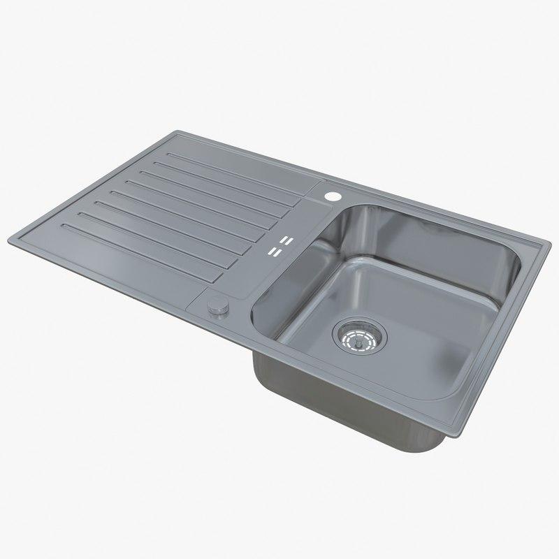 sink blanco classic pro 3D