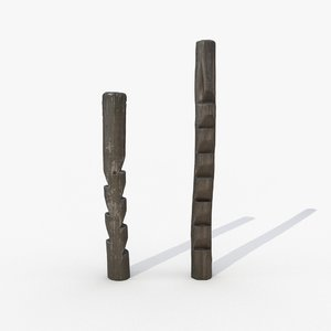 scanned 1 wood poles 3D