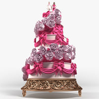 wedding cake x2 3D model
