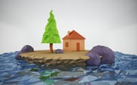 Low poly floating island