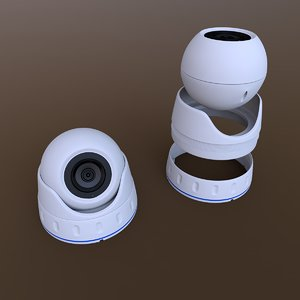 3D dome security camera